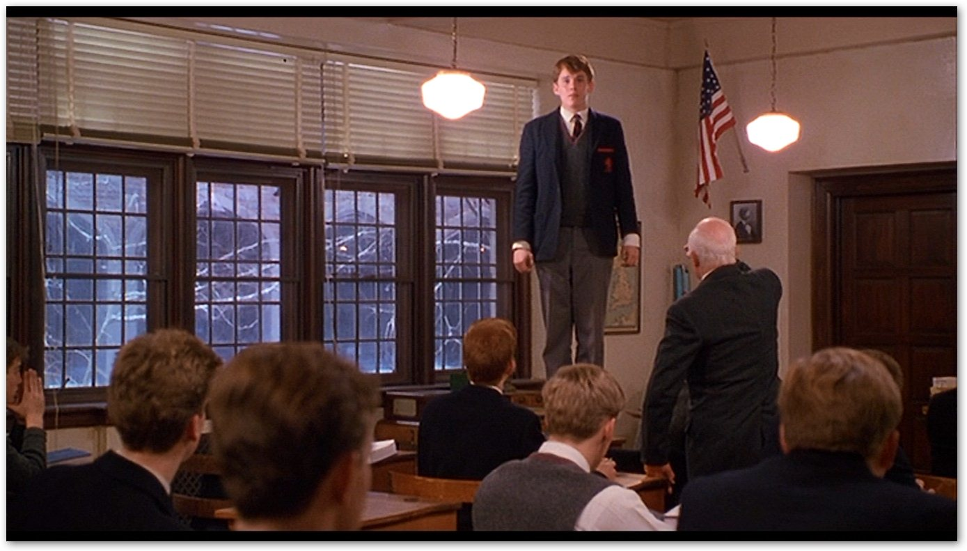 an analysis of the spine twisting movie uses in the dead poets society The boys read from the book the five centuries of verse at every dead poet's society meeting the first quote dead poets society - supplement to movie.